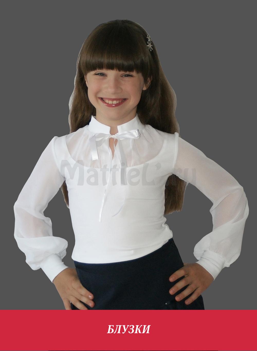 Нарядные белые блузки для девочек купить